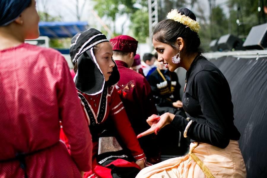 Teaching a Georgian friend about Indian culture