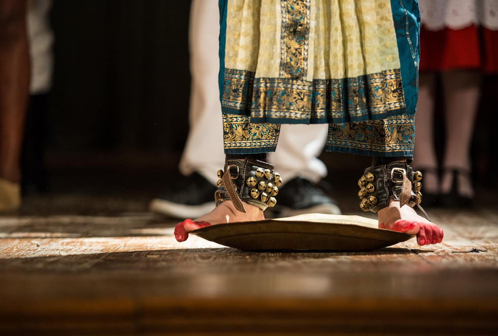 The Tarangam or balancing on the plate dance of Kuchipudi