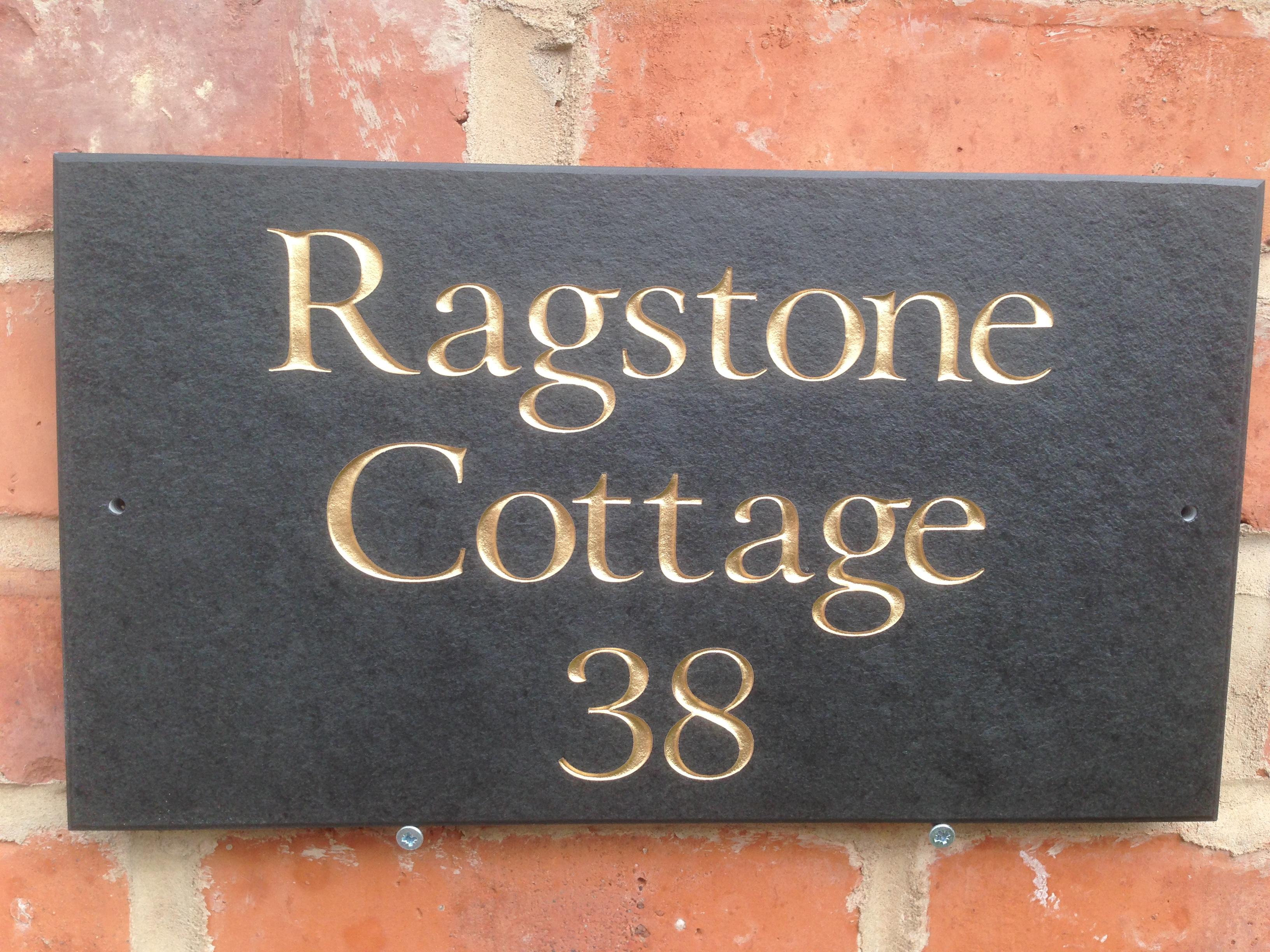 14 x 8 smooth slate house sign