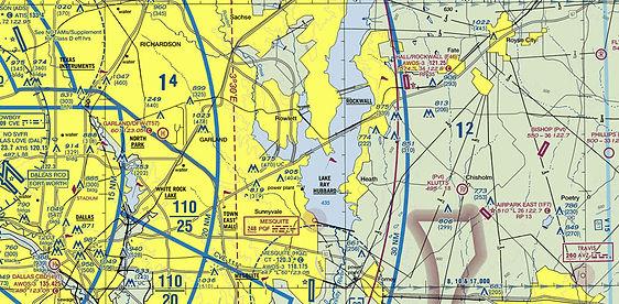 Ralph Hall/Rockwall Municipal Airport Sectional View