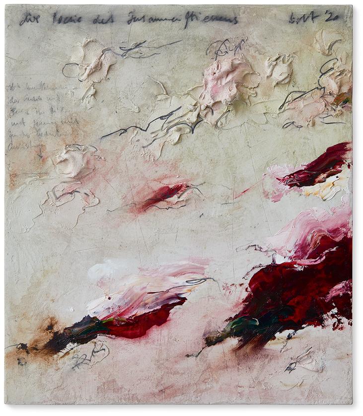 Poesie des Zusammenfliessens   2020   Modelliermarmor B20   40 x 35cm