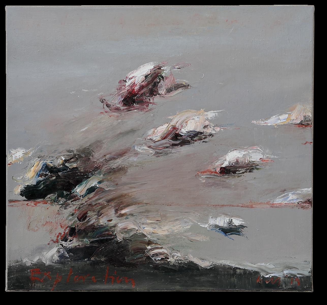 Exploration | 2019 | Öl auf Leinwand | 65 x 70cm