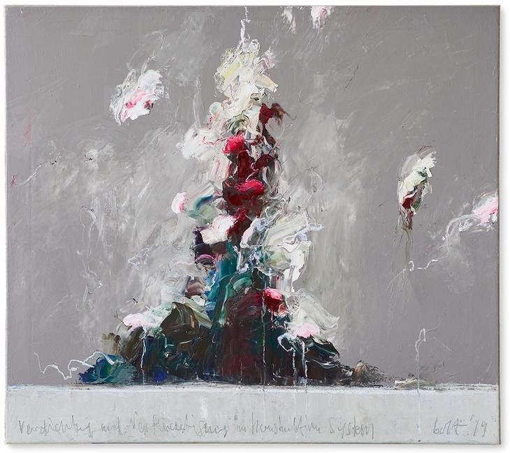 Verdichtung und Verflüchtigung | 2019 | Öl auf Leinwand | 80 x 85 cm