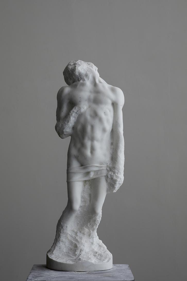 Change of Mind   2014   Marmo Statuario   108 x 37 x 28cm