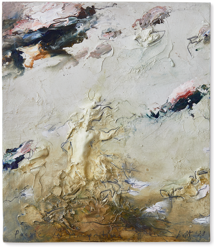 Poesie der Komposition   2020   Modelliermarmor B20   40 x 35cm