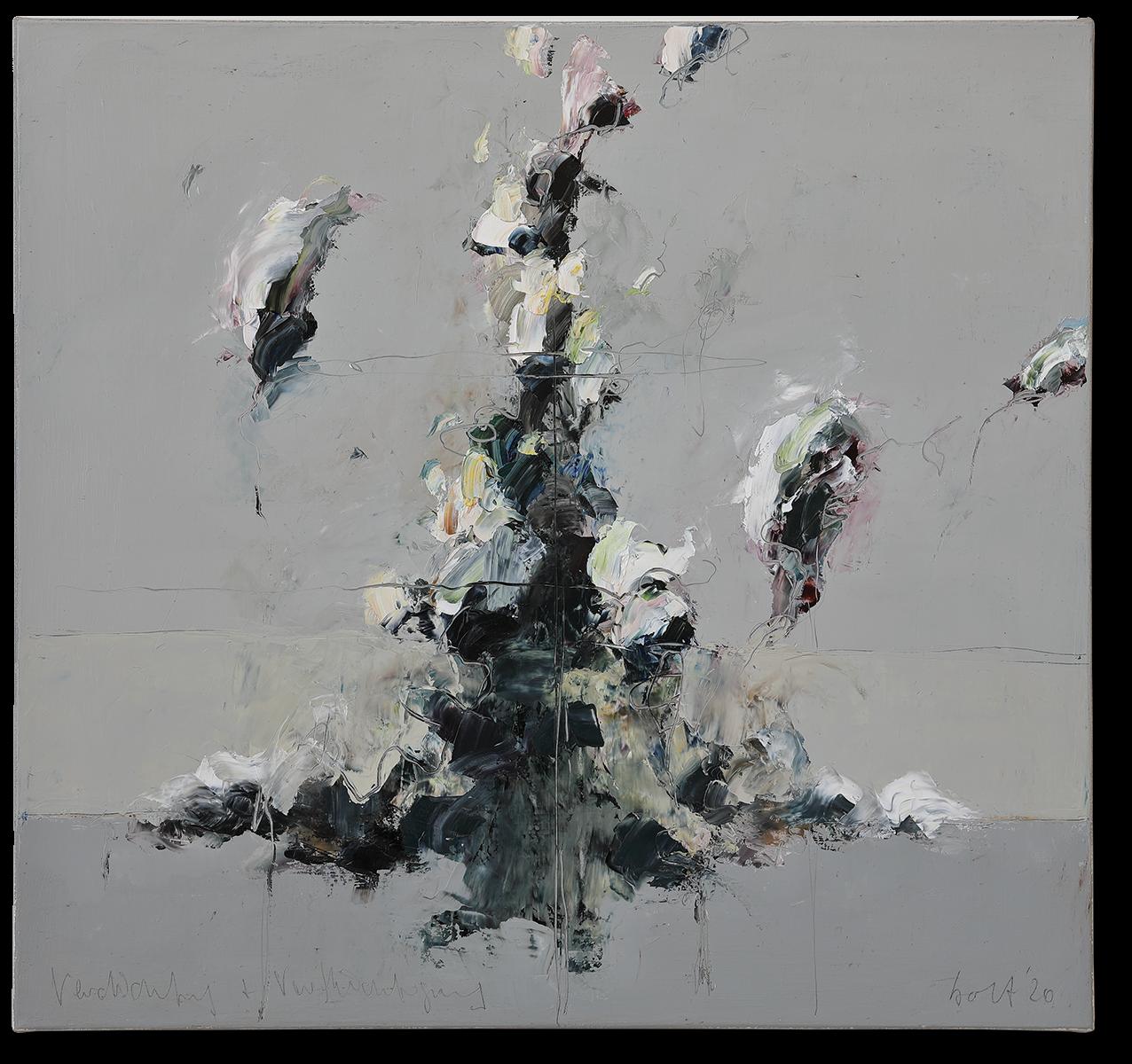 Verdichtung und Verflüchtigung | 2020 | Öl auf Leinwand | 80 x 85cm