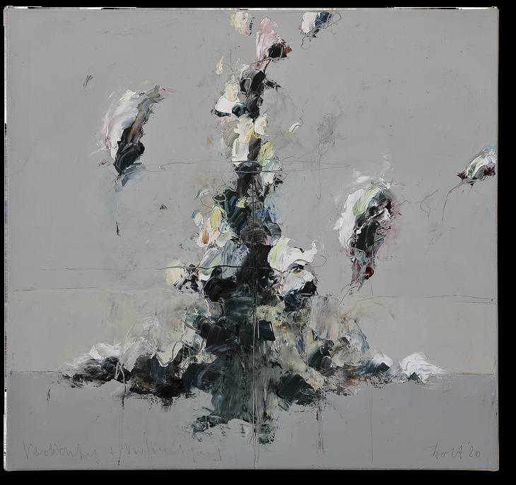 Verdichtung und Verflüchtigung | 2020 | Öl auf Leinwand | 80 x 85 cm