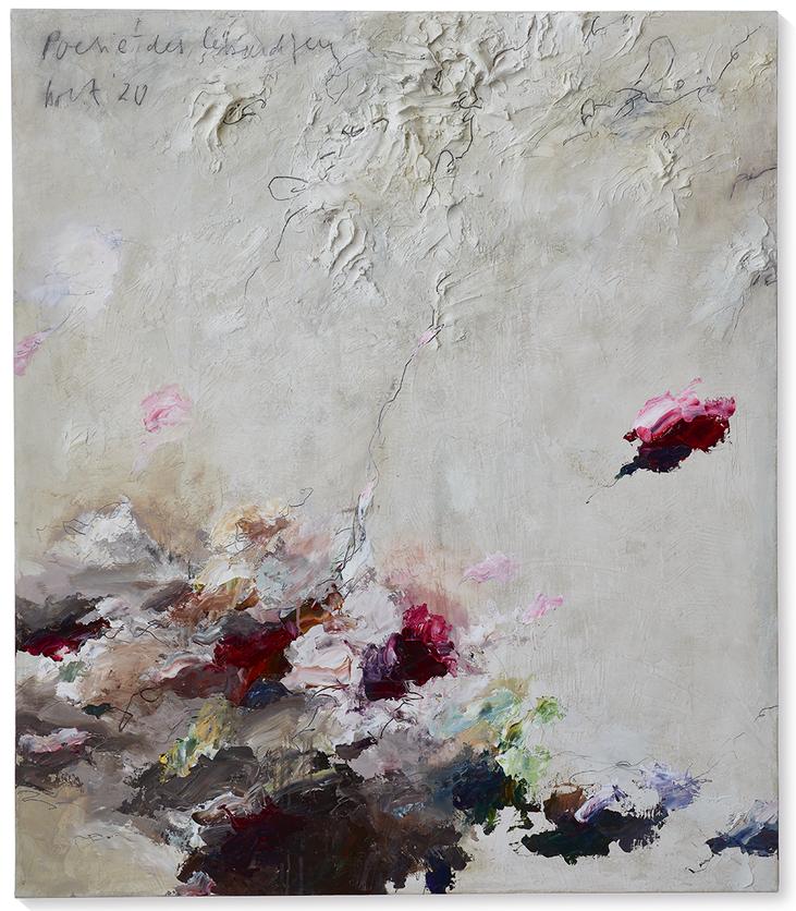 Poesie des Lebendigen   2020   Modelliermarmor B20   150 x 130cm