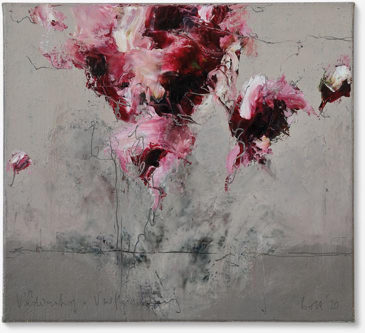 Verdichtung und Verflüchtigung | 2020 | Öl auf Leinwand | 45 x 50cm