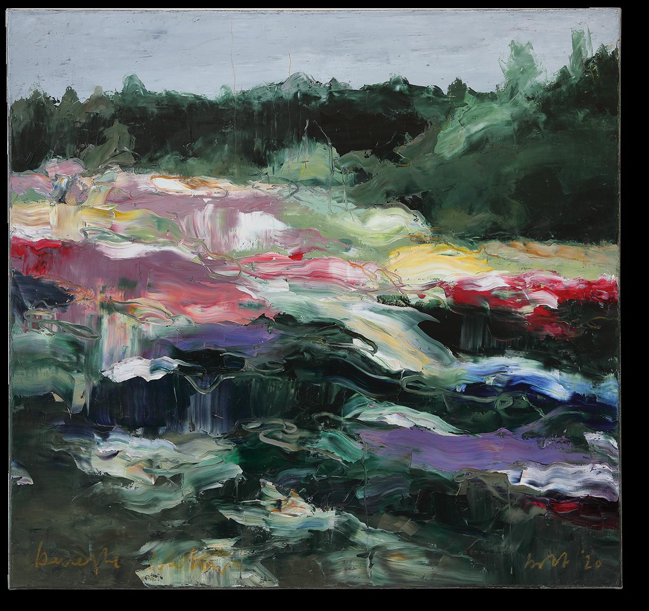 Bewegte Natur | 2020 | Öl auf Leinwand | 80 x 85cm