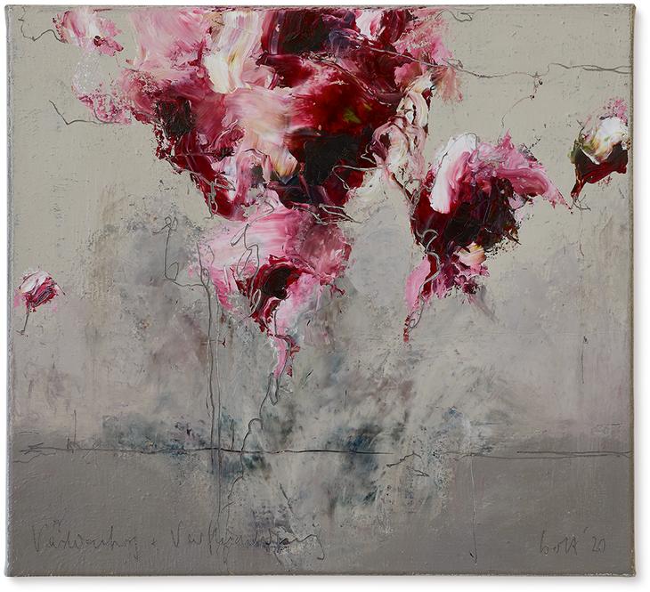 Verdichtung und Verflüchtigung | 2019 | Öl auf Leinwand | 45 x 50cm