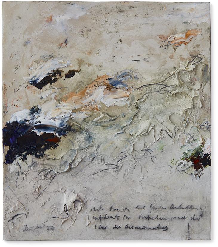 Poesie der Freiheit   2020   Modelliermarmor B20   40 x 35cm