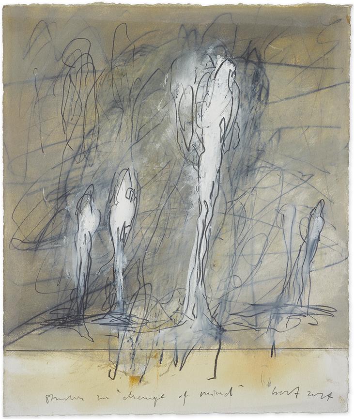 Studie zu «Change of Mind»   2014   Öl und Bleistift auf Büttenpapier   46 x 39cm