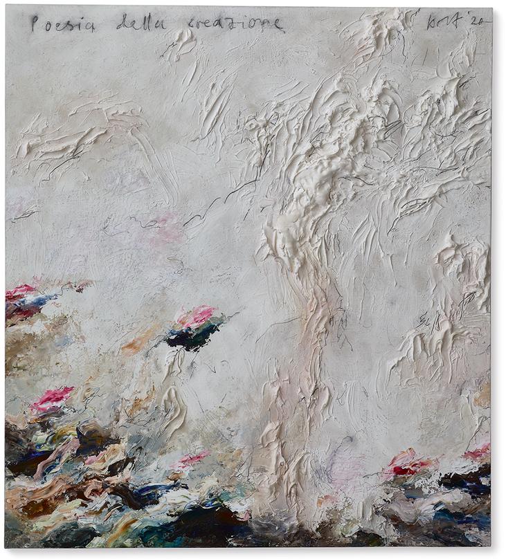 Poesia della creazione   2020   Modelliermarmor B20   150 x 130cm