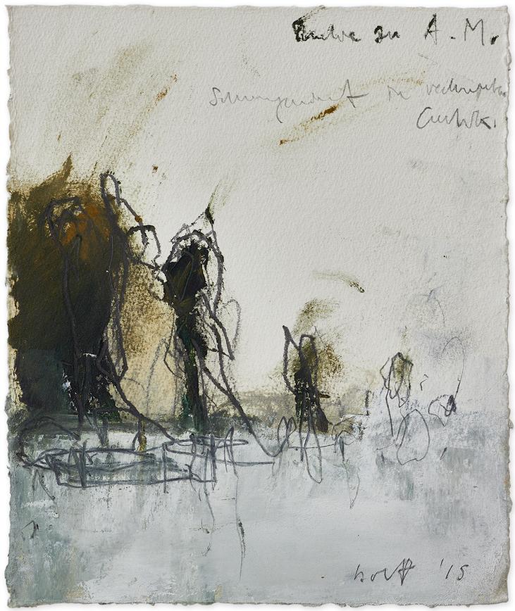 Studie zu «Another Morning»   2015   Öl und Bleistift auf Büttenpapier   23.5 x 20cm