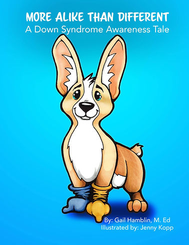Front cover of More Alike Than Different, a Down Syndrome Awareness Tale