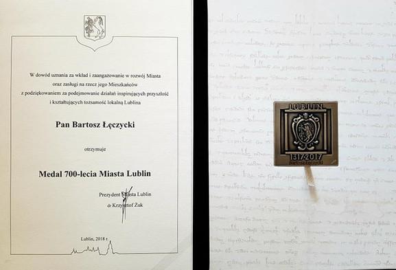 Medal 700 lecia Miasta Lublin