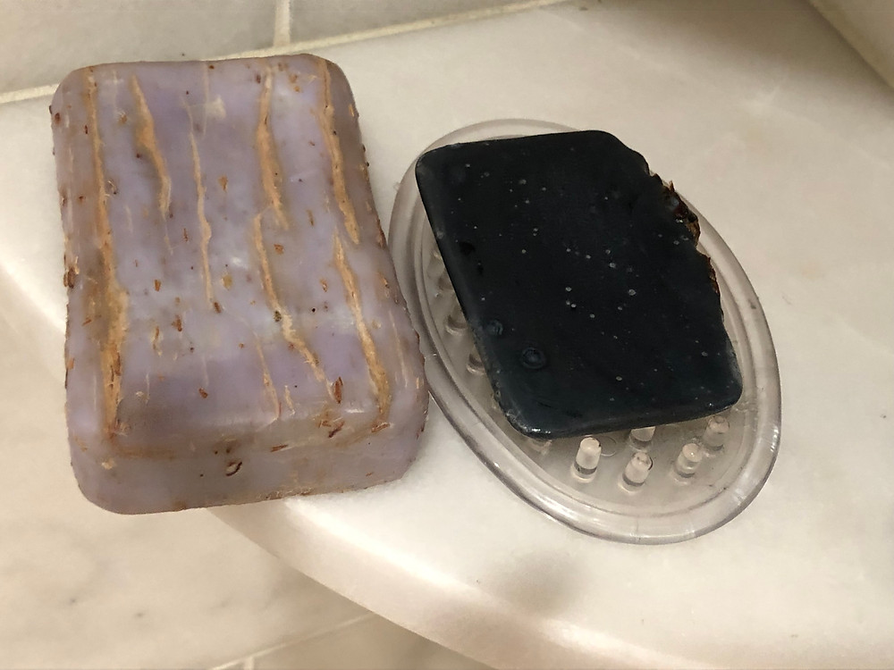 This new bar on the left cracked within one week. My soap has been used daily in the shower for 6 months and is still smooth.