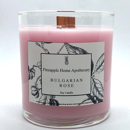 Bulgarian Rose Soy Candle w/lid