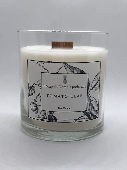 Tomato Leaf Soy Wax Candle w/lid