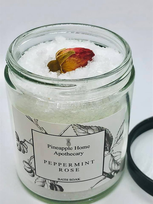 Peppermint Rose Bath Soak