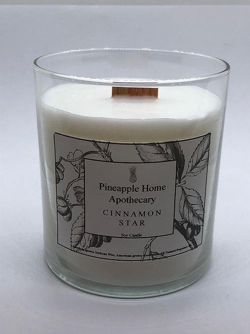 Cinnamon Star Soy Candle w/lid
