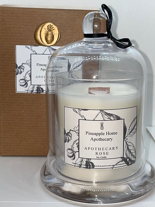 Apothecary Rose Bell Jar Candle