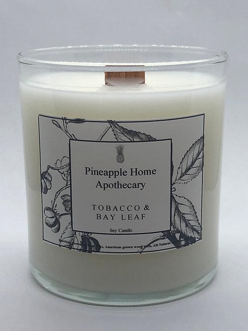 Tobacco & Bay Leaf soy candle w/lid