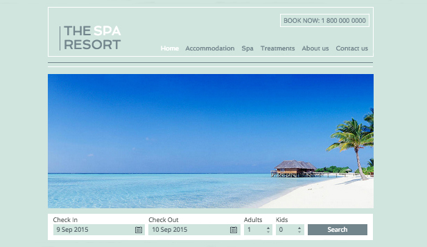 Hotel e B&B template –  Resort con spa