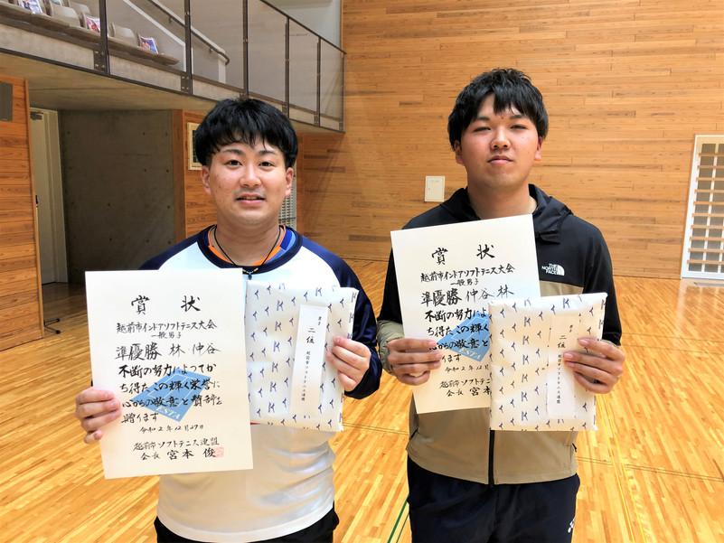 一般男子2位/仲谷・林(敦賀ク・北電)