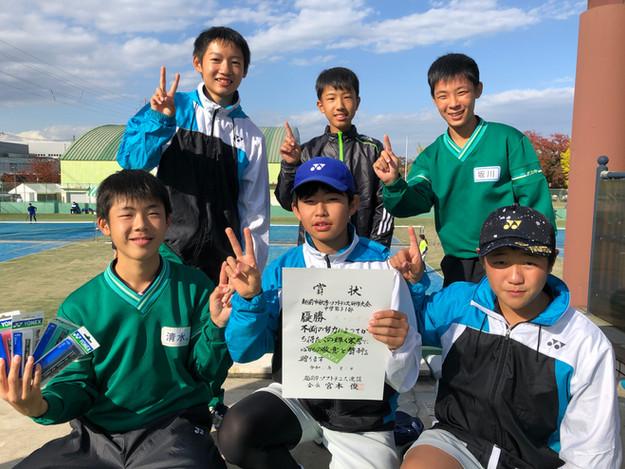 1部男子優勝/武生第三中学校A