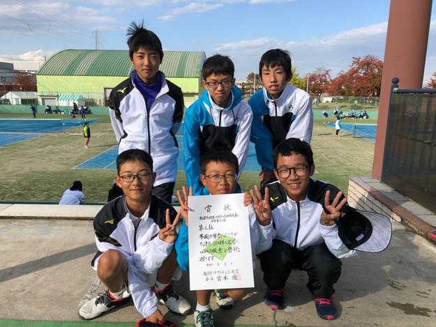1部男子3位/武生第二中学校A