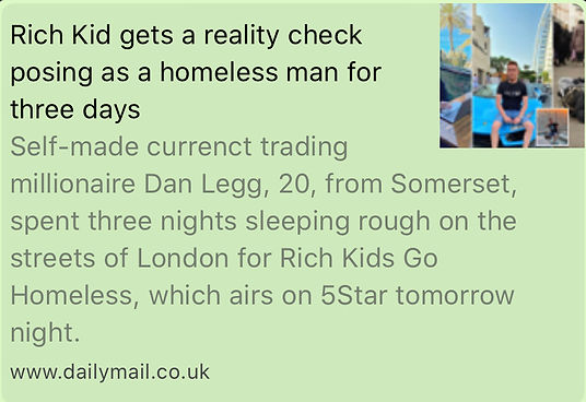 dan legg daily mail, rich kids go homeless