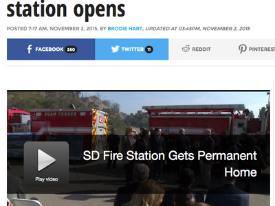 Our Fire Station Opens!