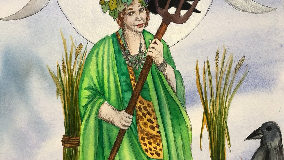 Lady of the Harvest print