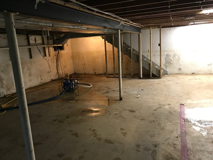 Wet Basement Repair - Midland Michigan -