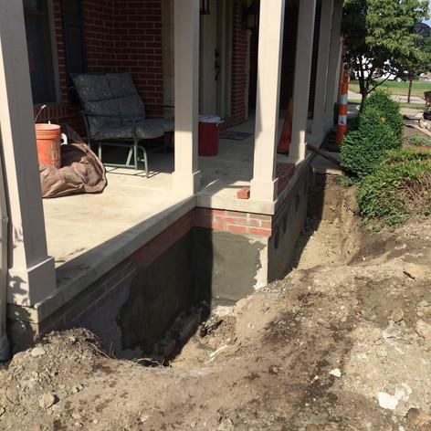 Porch Foundation Lifting & Repair