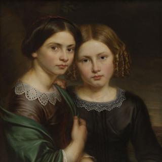 Portret van de zussen Miranda en Isala Van Diest