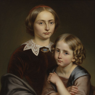 Portret van de zussen Ophélie en Flore Van Diest