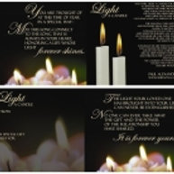 Light A Candle CD Card