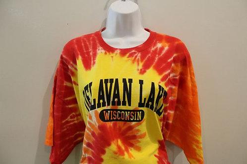 Delavan Lake Orange Tie Dye Shirt