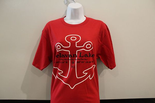 Red Delavan Lake Anchor T-Shirt