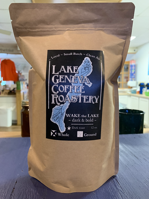 Wake the Lake Dark Roast Coffee - Lake Geneva Coffee Roastery