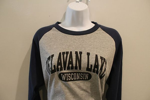 Delavan Lake Long Sleeve Baseball Tee