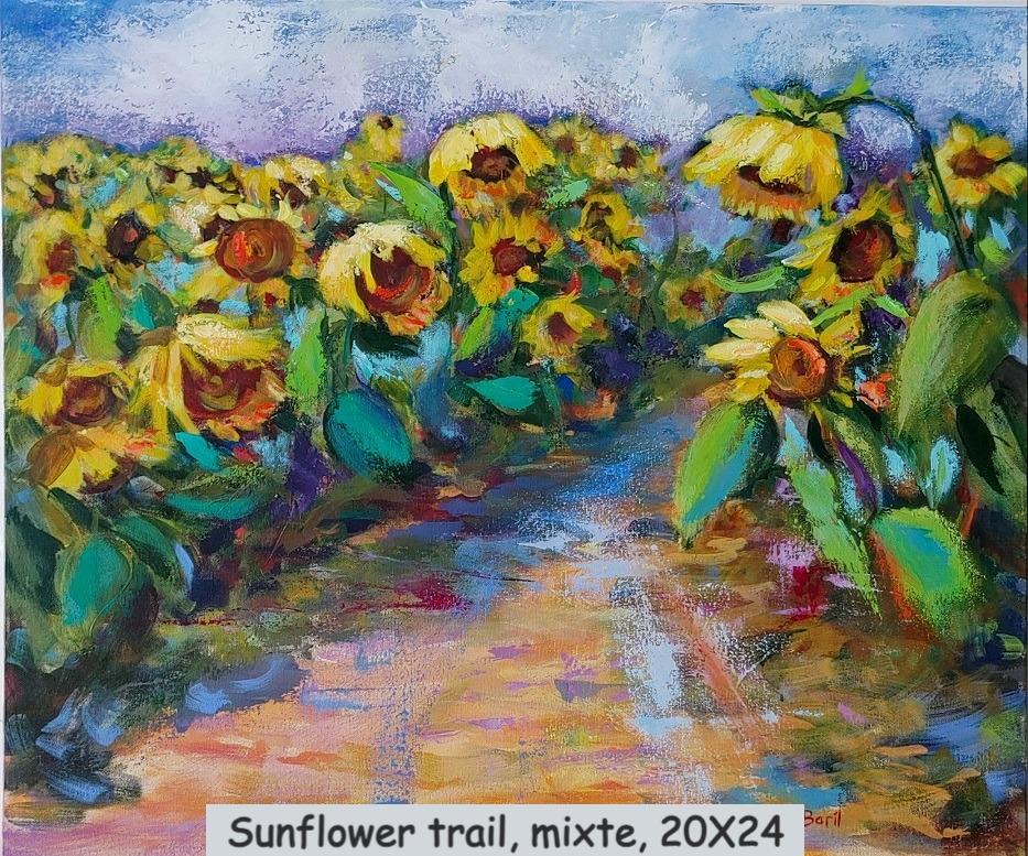 Sunflower trail, mixte, 20X24