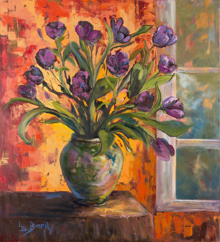 Birthday Bouquet, Oils, 40X36
