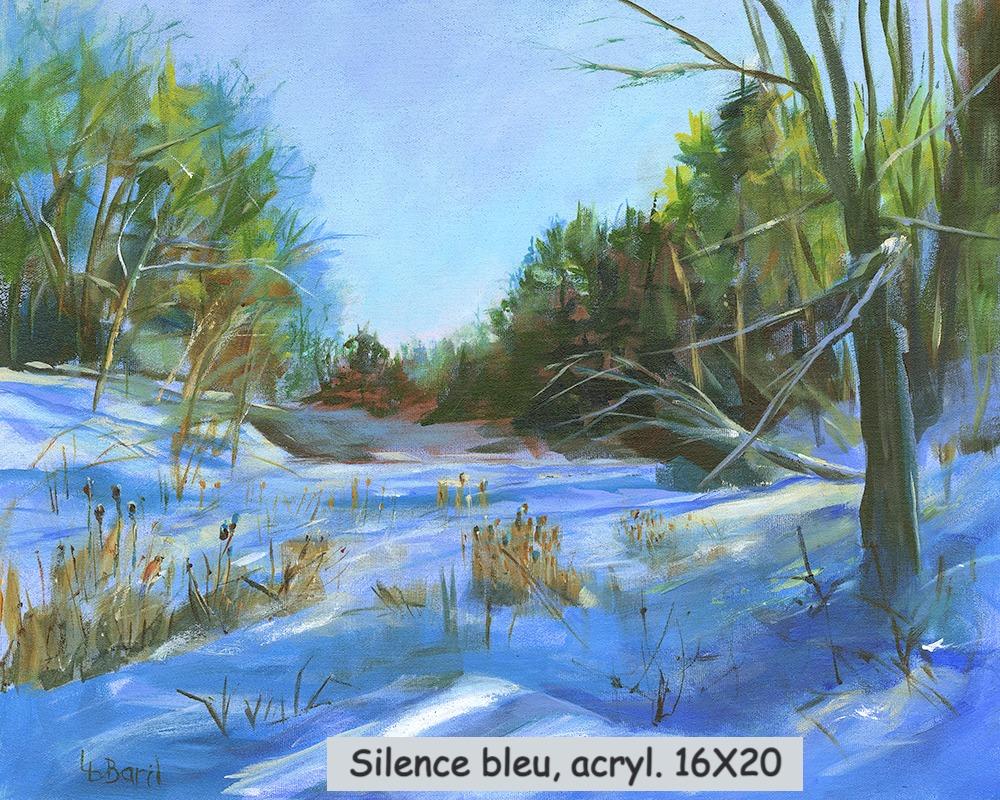 Silence bleu, acrylique, 16X20