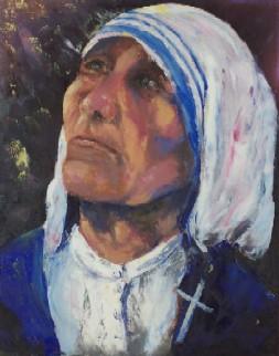 Mère Thérèsa, huile