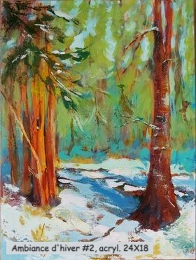 Ambiance d'hiver-2, acrylique, 24X18