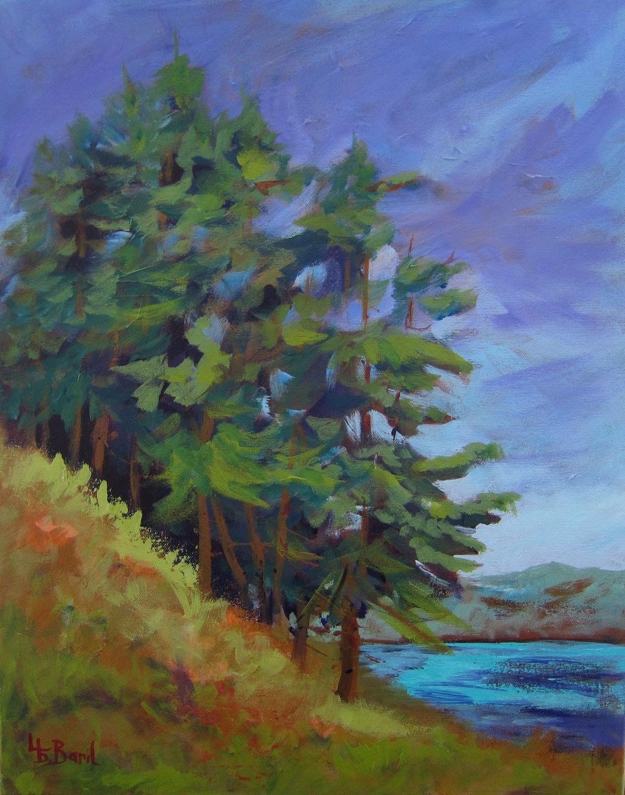 Pines, acrylics, 20X16